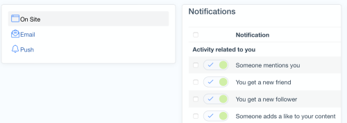Notifications System Update