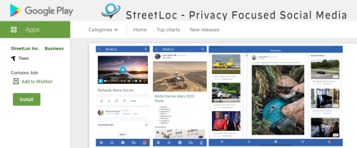 StreetLoc is Available In The Google Play Store