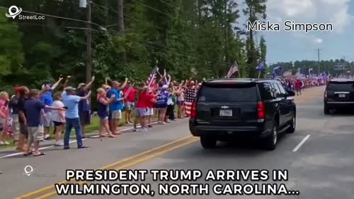 Trump arrives to great Support in Wilmington, North Carolina